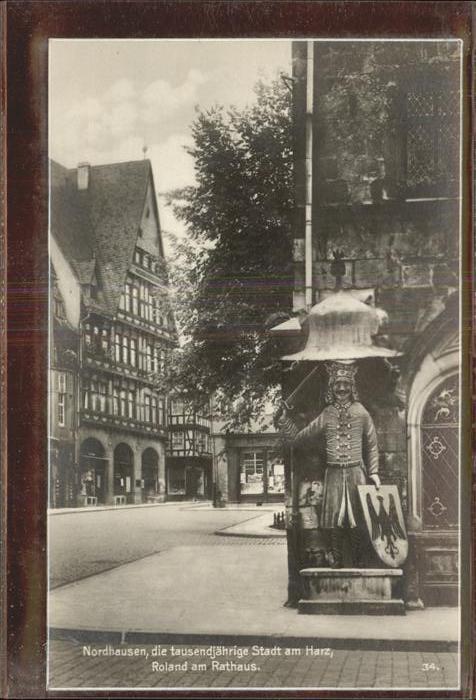 Nordhausen Thueringen Harz Roland am Rathaus Kat. Nordhausen
