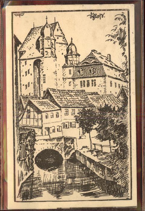 Heringen Helme Schloss Kuenstlerkarte Kat. Heringen Helme