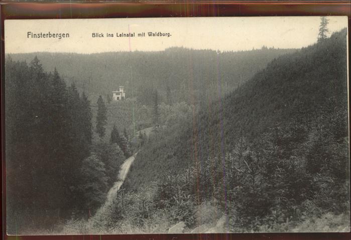 Finsterbergen Blick ins Leinatal mit Waldburg Kat. Finsterbergen