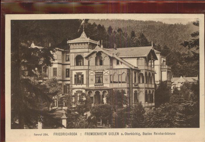 Friedrichroda Fremdenheim Gielen am Oberbuechig Kat. Friedrichroda