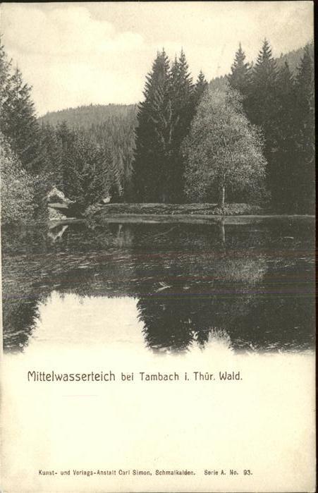 Tambach-Dietharz Mittelwasserteich / Tambach-Dietharz /Gotha LKR