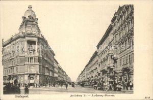 Budapest Andrassy ut Andrassy Strasse Kat. Budapest