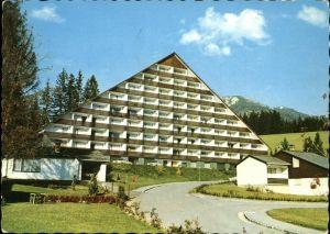 Bad Mitterndorf Sonnenalm Appartementhaus mit Blick gegen Lawinenstein Dachsteingebirge