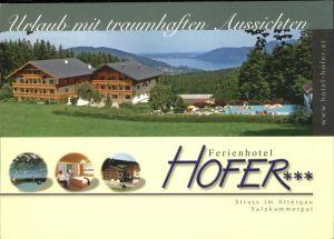 Strass Attergau Ferienhotel Hofer Schwimmbad See Kat. Strass im Attergau
