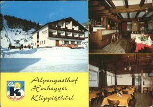 Wolfsberg Kaernten Alpengasthof Hochegger Klippitzthoerl Wintersportplatz Skilift Kat. Wolfsberg