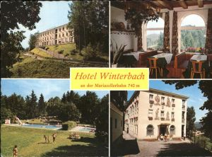 Mariazellerbahn  Hotel Winterbach Teilansichten Kat. St. Poelten