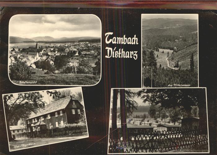 Tambach Dietharz Am Mittelwasser Vier Pfg. Haus Ferienlager Kat. Tambach Dietharz