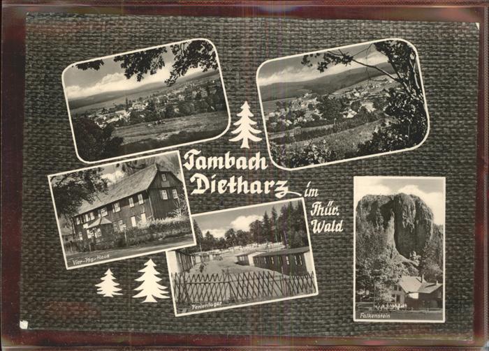 Tambach Dietharz Falkenstein Ferienlager Vier Pfg. Haus Kat. Tambach Dietharz