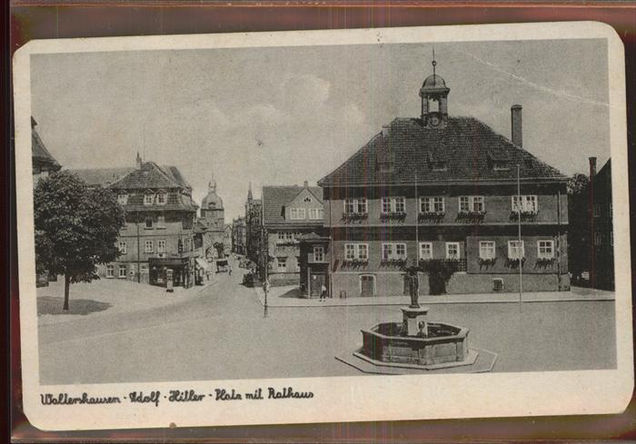 Waltershausen Gotha Rathaus Brunnen Kat. Waltershausen