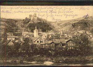 Treffurt Werra Burg Normannstein Kat. Treffurt