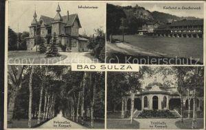 Bad Sulza Inhalatorium Kurhotel Gradierwerke Kurpark Birkenallee Trinkhalle Kat. Bad Sulza