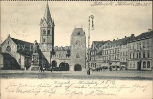 Eisenach Thueringen Karlsplatz Lutherdenkmal Nicolaikirche Kat. Eisenach