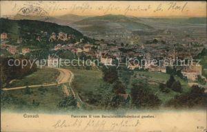 Eisenach Thueringen Blick vom Burschenschaftsdenkmal Feldpost Kat. Eisenach