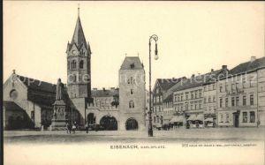 Eisenach Thueringen Karlsplatz Lutherdenkmal Nikolaikirche Kat. Eisenach