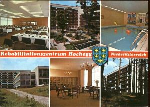 Hochegg Rehabilitationszentrum Kurzentrum Wappen Hallenbad Kat. Grimmenstein Niederoesterreich
