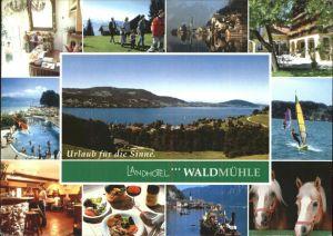 Strass Attergau Landhotel Waldmuehle Attersee Wassersport Windsurfing Pferd Kat. Strass im Attergau