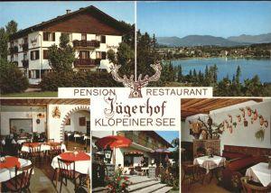 St Kanzian Klopeiner See Pension Restaurant Jaegerhof Jagdtrophaeen Kat. St. Kanzian am Klopeiner See
