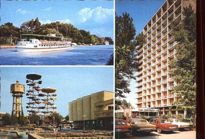 Siofok Schiff Plattensee Wasserturm Wahrzeichen Hotel Kat. Siofok