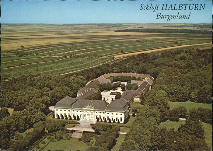 Halbturn Schloss Fliegeraufnahme Kat. Halbturn