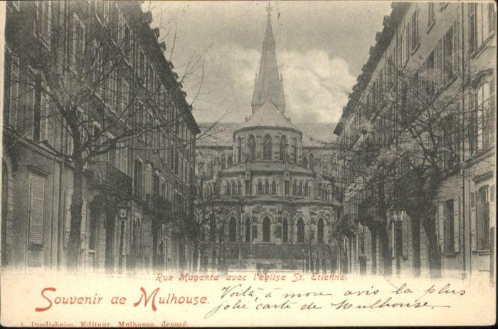 ws70883 Mulhouse Muehlhausen Mulhouse Rue Magenta St Etienne x Kategorie. Mulhouse Alte Ansichtskarten