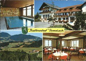 Semriach Hotel Restaurant Trattnerhof Hallenbad Wappen Kat. Semriach