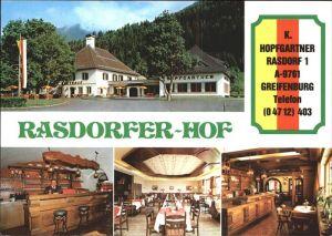 Greifenburg Rasdorfer Hof Gastraeume Kat. Greifenburg