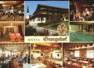 Waldzell Oberoesterreich Hotel Georgshof Gastraeume Hallenbad Kat. Waldzell