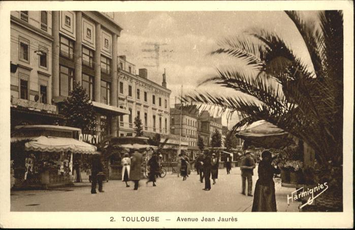 wb05148 Toulouse Haute-Garonne Toulouse Avenue Jean Jaures x Kategorie. Toulouse Alte Ansichtskarten