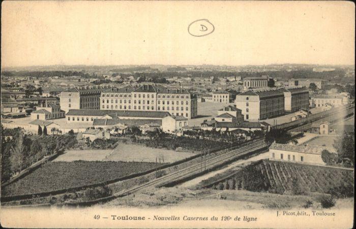 ww74275 Toulouse Haute-Garonne Toulouse Caserne 126.  * Kategorie. Toulouse Alte Ansichtskarten