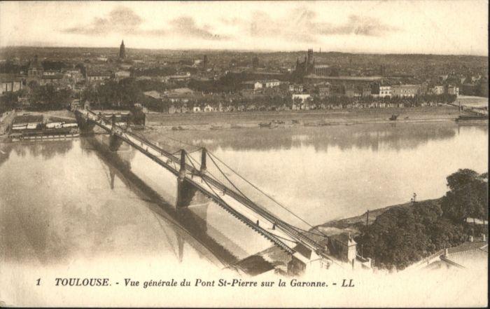 ww84431 Toulouse Haute-Garonne Toulouse Bruecke Pont St Pierre Garonne * Kategorie. Toulouse Alte Ansichtskarten