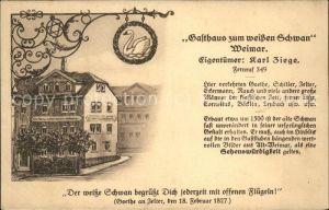 Weimar Thueringen Gasthaus zum weissen Schwan / Weimar /Weimar Stadtkreis