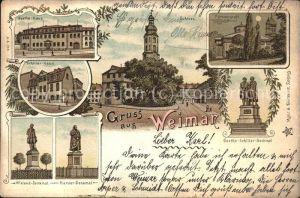 Weimar Thueringen Fuerstengruft Goethe-Schiller Denkmal Schiller Haus  / Weimar /Weimar Stadtkreis