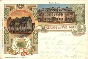 Weimar Thueringen Schiller Haus Goethe Haus / Weimar /Weimar Stadtkreis