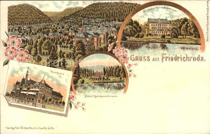 Friedrichroda Schloss Reinhardsbrunn Kurhaus Hotel Kat. Friedrichroda