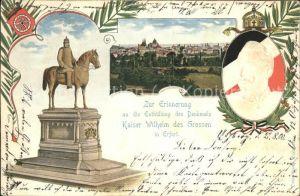 Erfurt Denkmal Kaiser Wilhelm des Grossen Wappen Kat. Erfurt