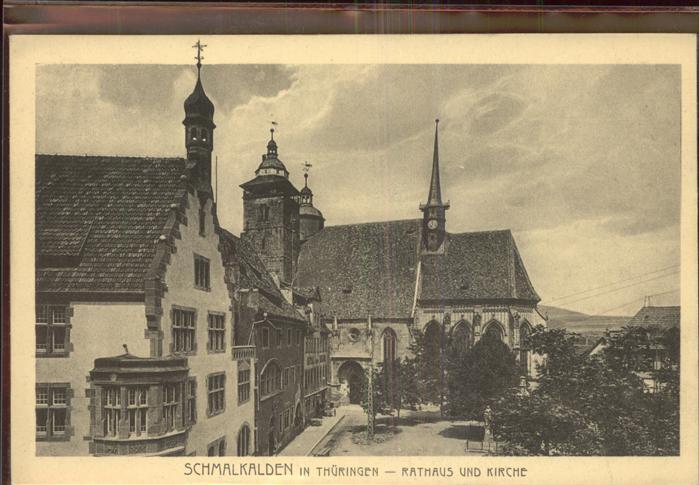 Schmalkalden Rathaus und Kirche Kat. Schmalkalden