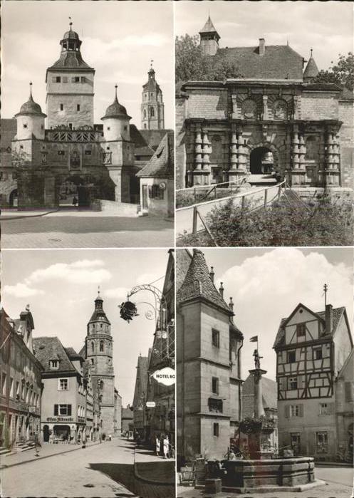 Weissenburg Bayern Ellinger Tor Eingang zur Wuelzburg Brunnen Kat. Weissenburg i.Bay.