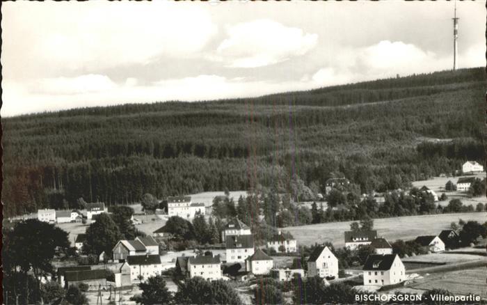 Bischofsgruen Villenpartie Turm Hoehenluftkurort Kat. Bischofsgruen