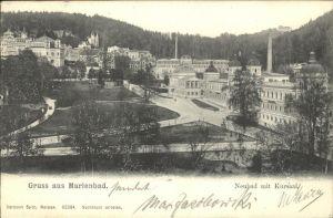 Marienbad Tschechien Neubad mit Kursaal Park Boehmen Kat. Marianske Lazne