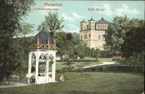 Marienbad Tschechien Ambrosiusbrunnen Katholische Kirche Boehmen Kat. Marianske Lazne