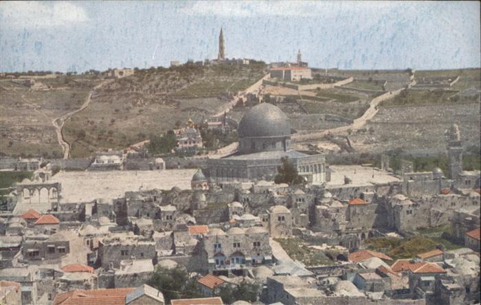 Jerusalem Yerushalayim Jerusalem Tempelplatz Felsenmoschee oelberg * / Israel /