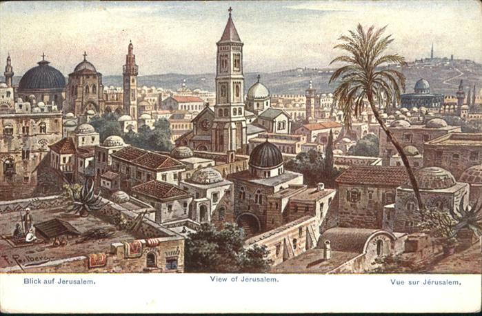 Jerusalem Yerushalayim Kuenstler F Perlberg / Israel /