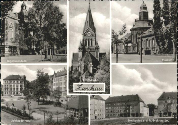 Zwickau Sachsen Zwickau Ingenieurschule Liebknechtplatz Moritzkirche Museum x / Zwickau /Zwickau LKR