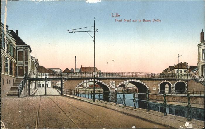 Lille Pont neuf Basse Deule Kat. Lille