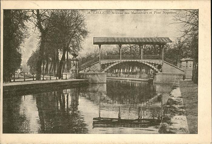 Lille Avenue des Maronniers Pont Napoleon Kat. Lille
