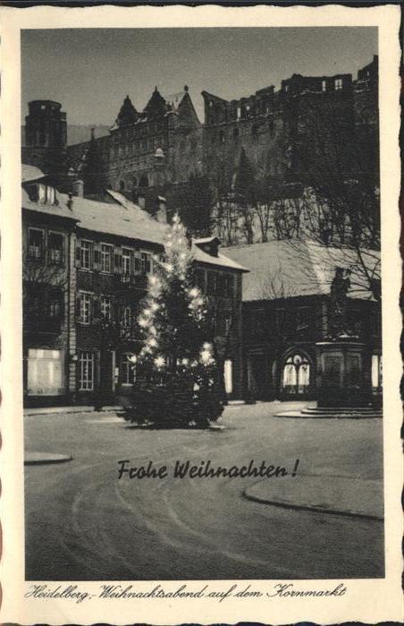 Heidelberg Weihnachten Kornmarkt Kat. Heidelberg