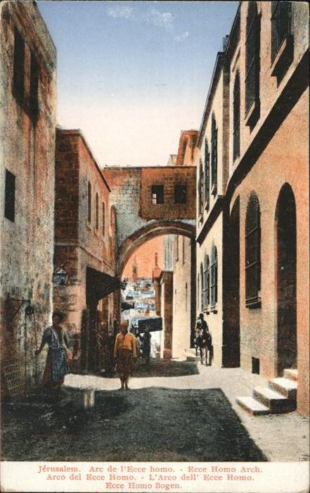 Jerusalem Yerushalayim Ecce Homo Arch / Israel /