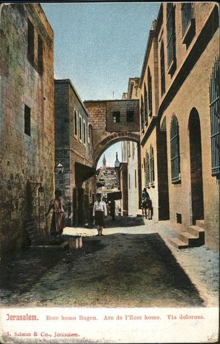 Jerusalem Yerushalayim Ecce homo Bogen Esel / Israel /