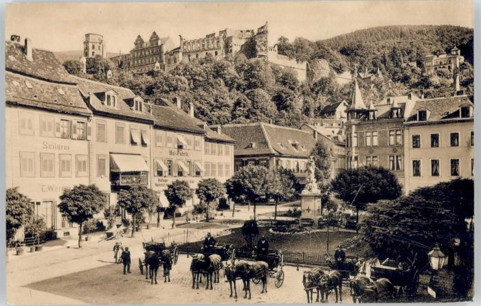 Heidelberg Schloss Kornmarkt *