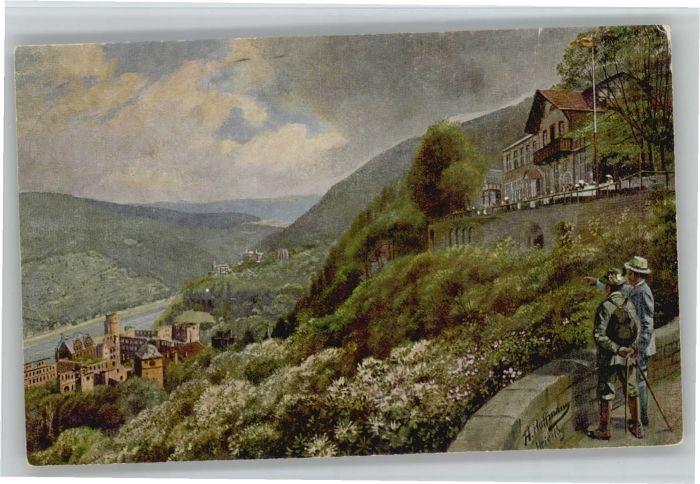 Heidelberg Kuenstler H. Hoffmann Molkenkur *